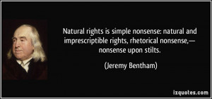 nonsense: natural and imprescriptible rights, rhetorical nonsense ...