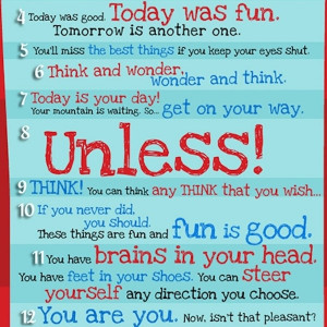 life lessons from dr seuss best quotes