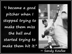 Sandy Koufax LA Dodgers Pitcher Baseball Photo Quote Poster Wall Art ...
