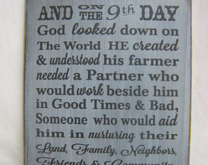 God Made a Farmers Wife.... Rustic Sign ...