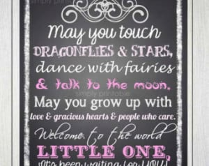 Baby Girl Quote Printable 8x10 Prin t ...