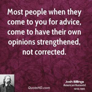 Josh Billings Quotes