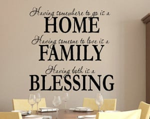 Both Is A Blessing Wall Decal Family Wall Decal Family Quote Decal
