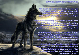 NATURAL NATURE OF THE WOLF - Nature Poems