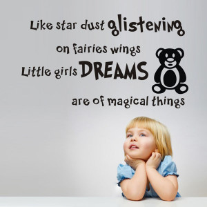 Little girls dreams Sweet Dream quote for home decor living room wall ...