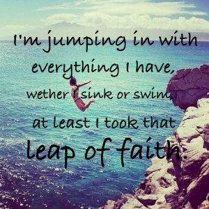 leap of faith quote