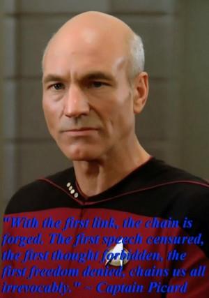 Captain Picard quote - Star Trek