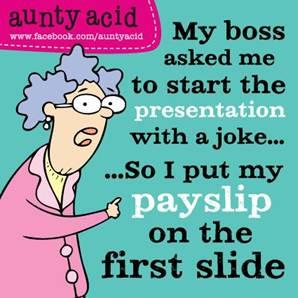 Friday Funnies #32 Fanny Green – Aunty Acid