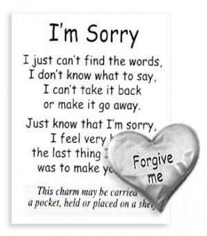 ... , Blessing - Pocket Tokens > I'm Sorry Token & Card - Forgive Me