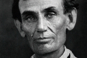 Abraham Lincoln in 1858. Image via Wiki Commons.