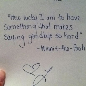 Winnie the Pooh Quote About Saying Goodbye