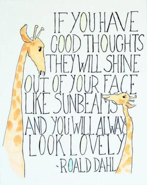 quote watercolor Literature roald dahl The Twits Matilda giraffe ...