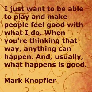 Mark Knopfler ber Musik Sich gut f hlen