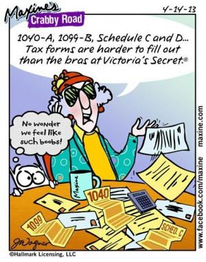 Tax Form Humor - Maxine