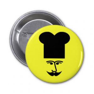 French Chef - Mustache Humor Pinback Button