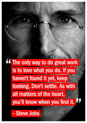 This is one of my favorite quotes from Steve Jobs: