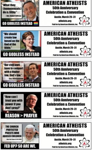 Atheist group targets Republican politicians in new anti-God campaign