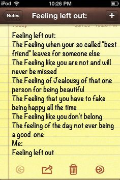 Feeling Left Out Quotes Being left out, me.. quote
