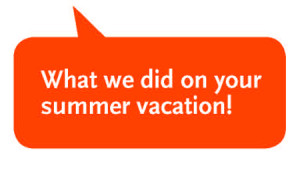 Welcome back! Check out what the Libraries did over your summer ...
