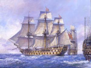 Geoff Hunt : HMS Captain 74-gun ship