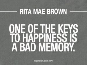Rita Mae Brown Memory Quotes