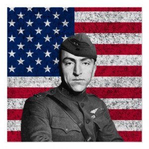 eddie rickenbacker and the american flag posters from zazzle com
