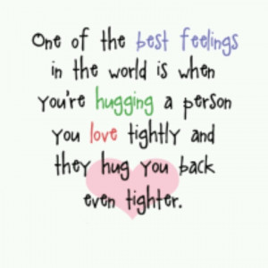 Love this quote about hugs.