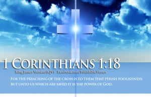 Bible Verses 1 Corinthians 1:18 Blue Sky Cross HD Wallpaper