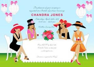 African American Ladies Champagne Brunch Garden Party Invitation