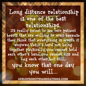 Long distance relationship ..