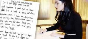 Banks Hand Wrote Out The Lyrics To 'Beggin For Thread' For Us