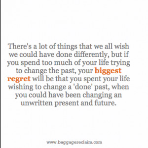 """... Done Things Differently!"""" – Getting Over The Regret Hangover"""