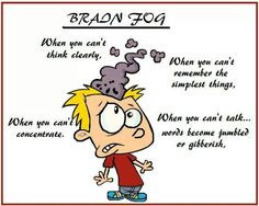 Brain Fog : When you can't think clearly.... You can't remember the ...