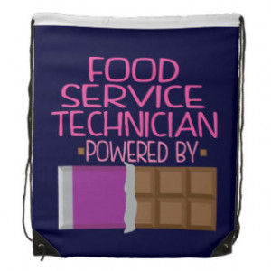 Food Service Technician Chocolate Gift for Her Drawstring Backpack