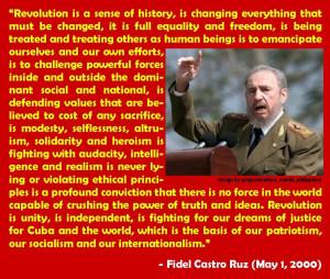 Fidel Castro quote on Revolution