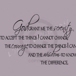 Vinyl Wall Art - Quote - God Grant Me The Serenity To Accept The ...