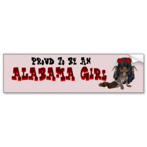 Alabama State Funny Bumper Sticker