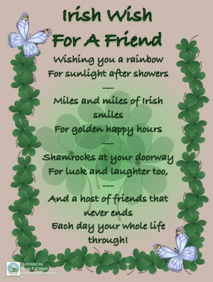 irish birthday wishes for a friend
