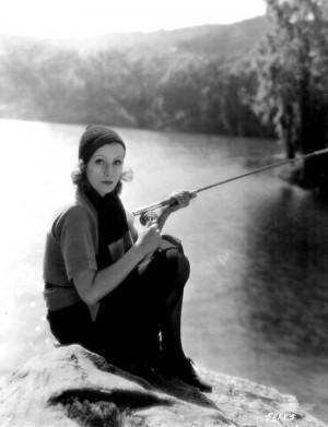 Greta Garbo Quotes | Greta Garbo fishing!
