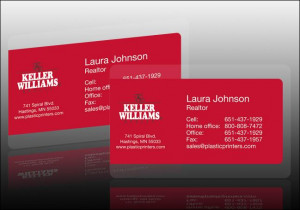 Simple Red Real Estate Business Card Quotes Realtor
