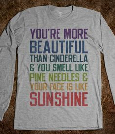 You're more beautiful (Bridesmaids Quote Long Sleeve)...want!
