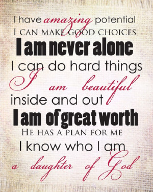 For all of the daughters of God!