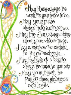 Scottish Blessings | Celtic Blessing 2 by *Artwyrd on deviantART More