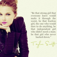 """... enough to be different, don't you ever change"""" – Taylor Swift"""