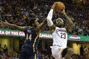 Nov 29, 2014; Cleveland, OH, USA; Cleveland Cavaliers forward LeBron ...