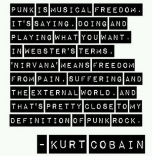 ... rock, quote, quotes, black & white, band quotes, kurt cobain quote
