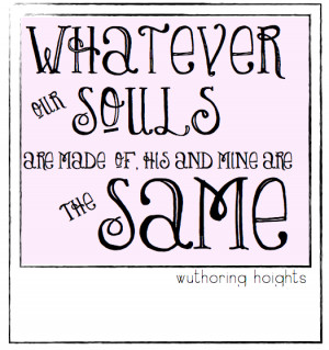 something literary} weekend quote, wuthering heights