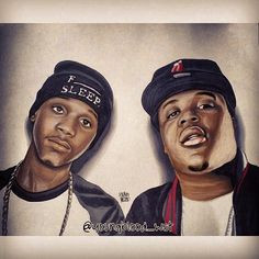 Portrait of Lil Snupe and Lil Phat by Young Blood Instagram ...