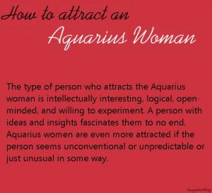 How Attract Aquarius Woman