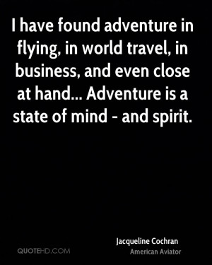 Jacqueline Cochran Travel Quotes